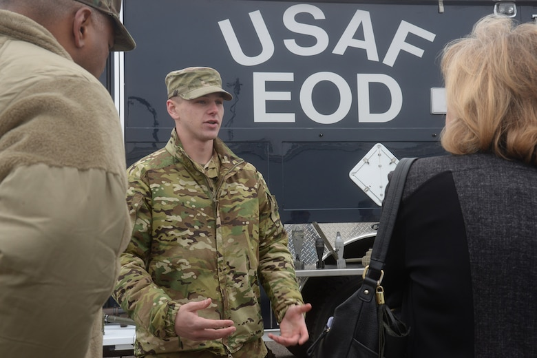 Static displays of equipment used by several base agencies were present to help Airmen describe operational functions critical to the unit's mission