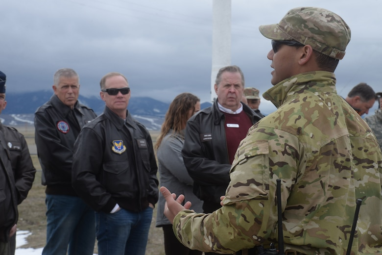 Civic leaders viewed a demonstration of an intercontinental ballistic missile recapture and recovery exercise during their visit to Malmstrom to more accurately understand the needs and requirements of the nuclear mission.