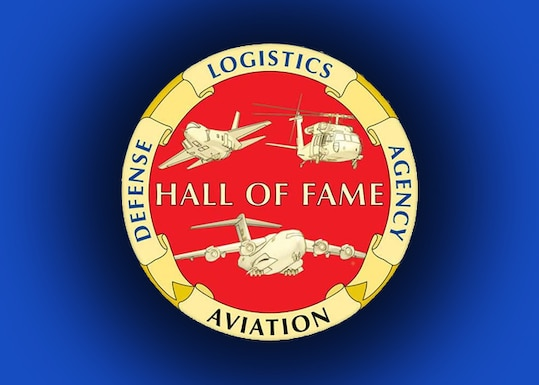 An emblem for the DLA Aviation Hall of Fame