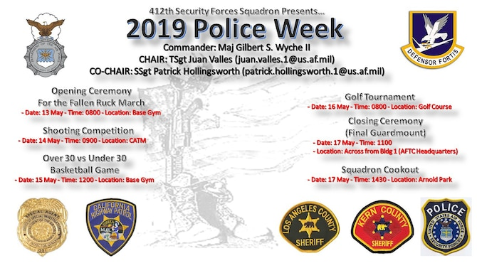 2019 Police Week events flyer