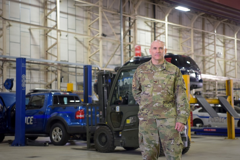 U.S. Air Force Maj. Anthony LaMagna, 100th Logistics Readiness Squadron commander, poses for a photo at RAF Mildenhall, England, May 2, 2019. LaMagna participates in 'Walking with Warriors' once a week, where all leadership leave their desk and interact with Airmen, from top leadership on down.   (U.S. Air Force photo by Senior Airman Alexandria Lee)
