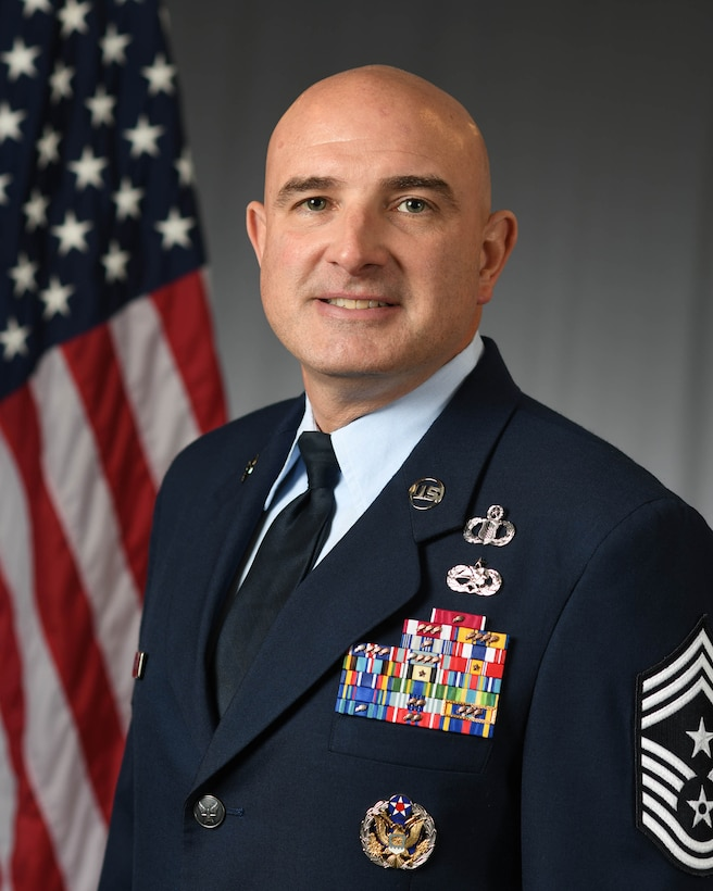 Chief Master Sgt. Christopher M. Yevchak official photo.