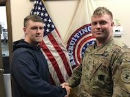 Army recruiter Staff Sgt. Joshua Crupper, 28, sustained the injury from an accident during a family celebration at his home in Independence, Kentucky.
