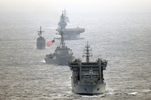 U.S., Partner Navies Sail Together in South China Sea
