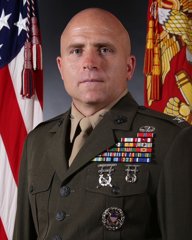 Colonel Farrell J. Sullivan, 2D Marine Division chief of staff