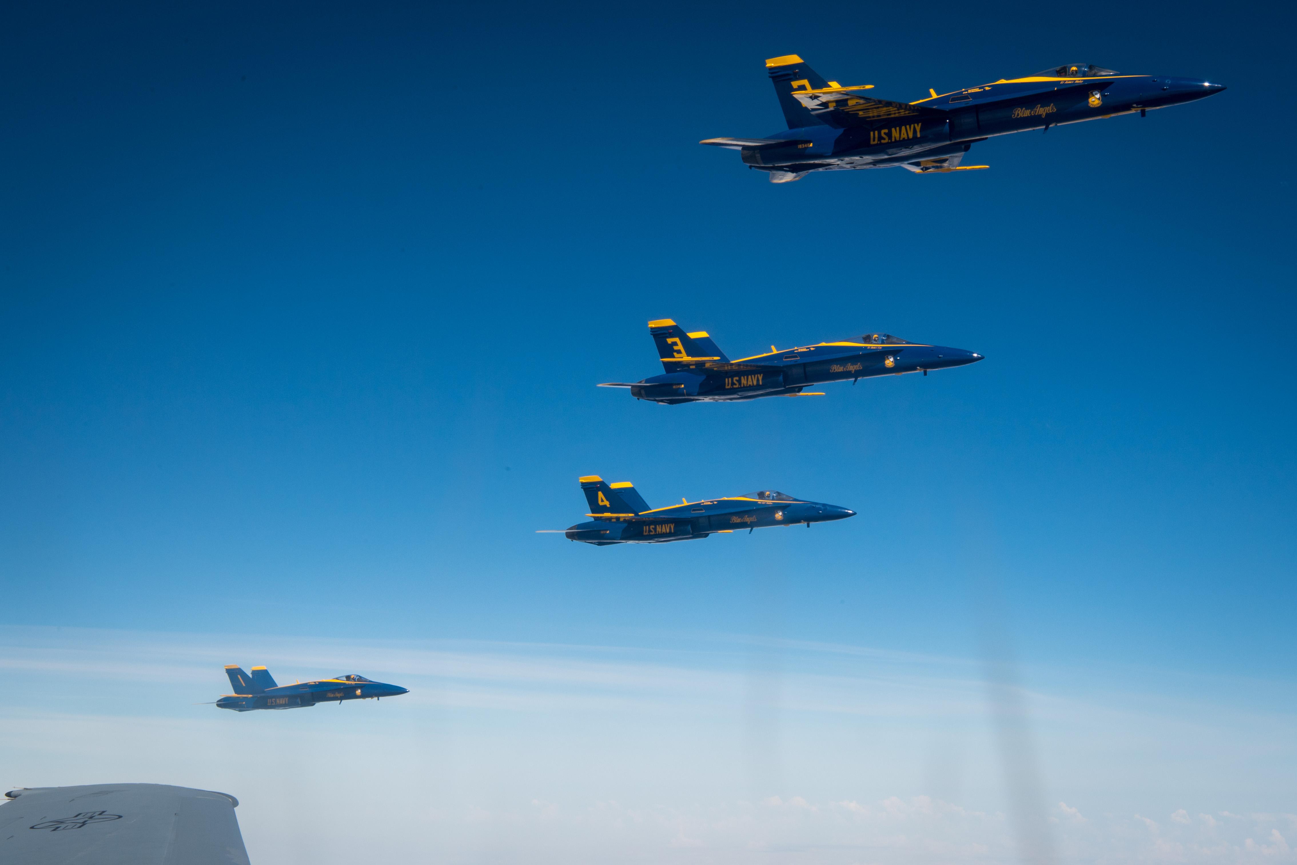 The U.S. Navy Flight Demonstration Squadron, the Blue
