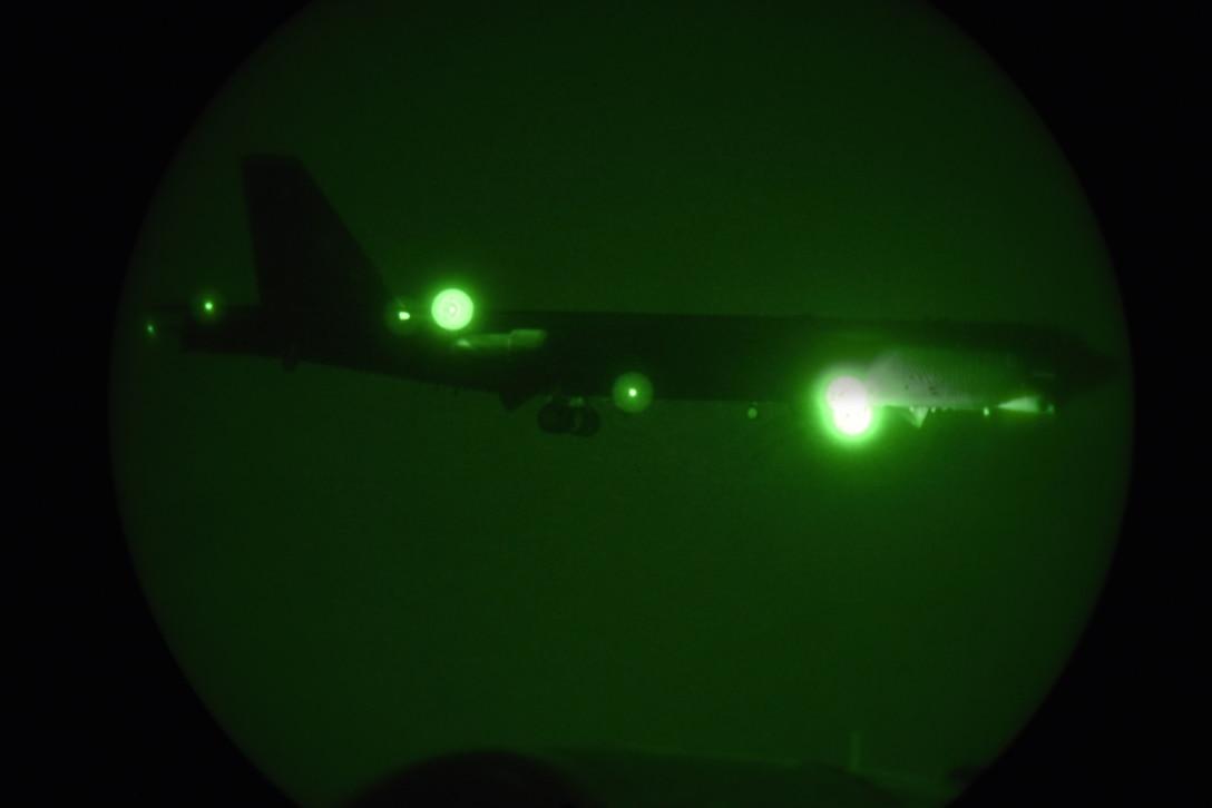 A photo of B-52 through night vision.