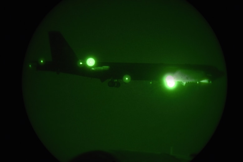 A photo of B-52 through night vision.