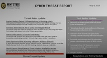Army Cyber Institute Cyber Threat Report