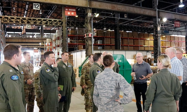 Advanced Study of Air Mobility Officers visit DLA Distribution Yokosuka, Japan