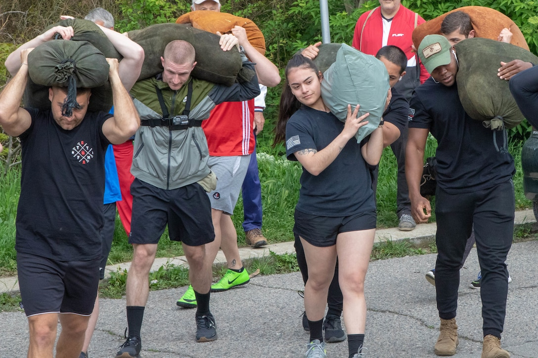 U.S Army Soldiers compete in Bulgarian 'strong man' competition