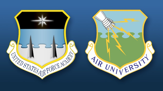 U.S. Air Force Academy and Air University shields.