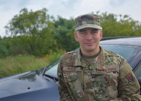 Air Force Staff Sgt. Daniel Pierce, combat operations mission supervisor in the 625th Operations Center, was traveling with his wife to Round Rock, Texas, when they witnessed an accident in Austin, March 2, 2019. Pierce did not hesitate to render aid and ensure the victim's safety, which earned him thanks and praise from Austin-Travis County Emergency Medical Services personnel and his leadership team.