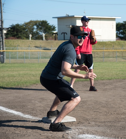 U.S. Air Force Staff Sgt. Gregoriorafael Rodriguez, a 35th Security Forces Squadron trainer, prepares to run to home plate during the 2019 Cinco de Mayo softball tournament at Misawa Air Base, Japan, May 4, 2019. More than 73 participants played in the event which provided a way for fellow service members, family and civilians to build camaraderie and meet new people. (U.S. Air Force photo by Branden Yamada)