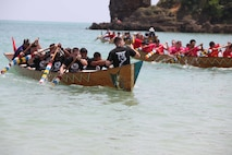 Members of the local and U.S. communities on Okinawa took part in Dragon Boat Races May 12, 2019, in Henoko, Okinawa, Japan. A team from Camp Hansen won a heat in men's division but did not make it to final.