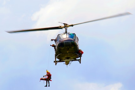 Dominican Republic Civil Defense, Air Force search and rescue squadron, Army and other governmental and non-governmental organizations participated in water-rescue simulations as part of Fuerzas Aliadas Humanitarias 2019.