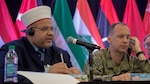 Tampa, Fla. – Grand Mufti of the Jordanian Armed Forces, MG Dr. Majid Darawsheh, addresses attendees at the U.S. Central Command hosted Middle East Directors of Military Intelligence Conference, April 2, 2019. The inaugural conference brought together Directors of Military Intelligence from the Middle East and North Africa and subject matter experts from America's intelligence and academic community to discuss professionalization and interoperability of military intelligence, and lay the ground work for increased regional intelligence cooperation. (Photo by Ruben Rosario)