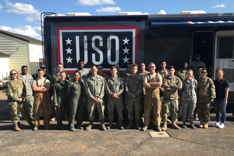 The USO visited the 12th Missile Squadron to provide entertainment for field-deployed Airmen.