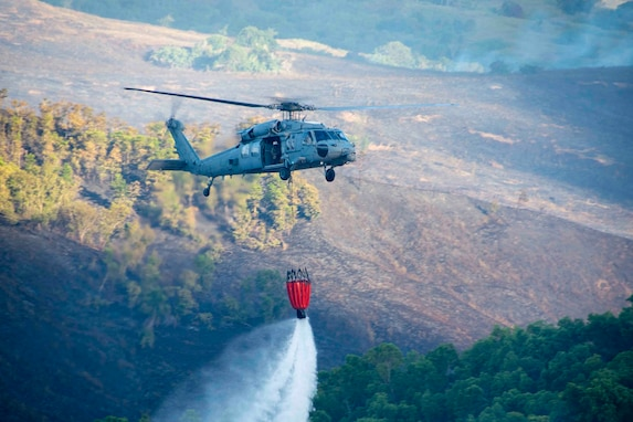HSC-25 Supports Local, Federal Firefighters to Contain Guam Fire