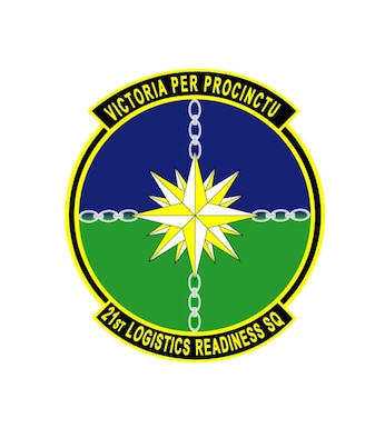Patch for the 21st Logistics Readiness Squadron located at Peterson Air Force Base, Colorado.