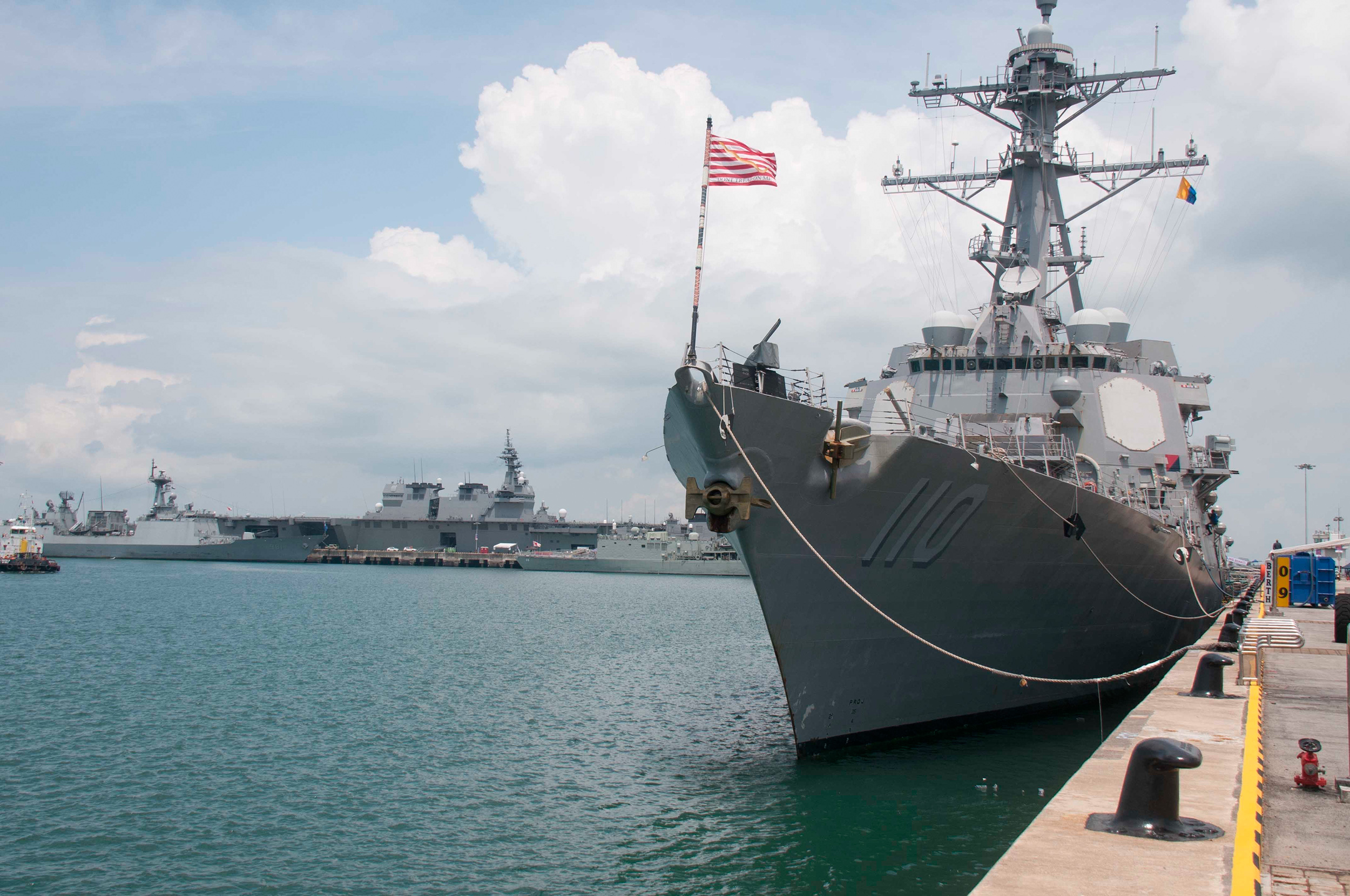 U S  Navy CNO, Ship and Aircraft Join International Maritime Defence