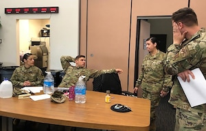 Antiterrorism Representatives and other AT professionals from as far away as Tyndall Air Force Base, Florida, gather here at Travis Air Force Base, Calif., May 6-10, to complete the Air Mobility Command Antiterrorism Level II Training.