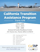 Travis A&FRC is hosting a CalVET/CalTAP Benefits training event on Saturday,  June 1, at the Travis A&FRC, 1-4 p.m. Please reserve your seat at: www.travisAFRC.com