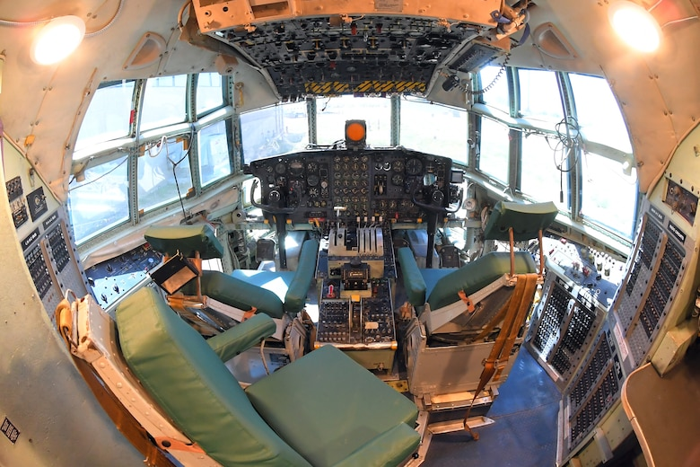 "The cockpit of ""The C-130 Experience"" located inside the Hill Aerospace Museum May 14, 2019, at Hill Air Force Base Utah. The museum worked with base and community partners for several years to convert the C-130 aircraft fuselage into an interactive classroom. Visitors can now sit in the pilot's seat, push buttons, flip switches and turn the dials. The complete experience will include all of the sights, sounds and smells of a real C-130 mission. (U.S. Air Force photo by Todd Cromar)"