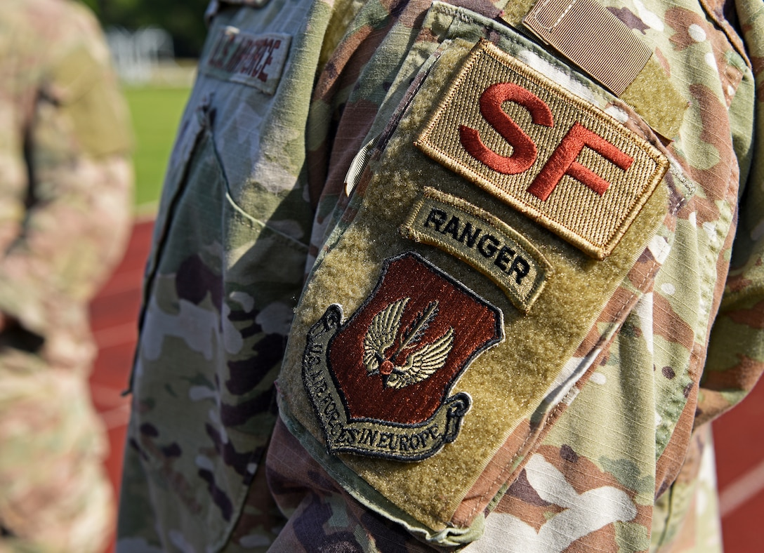 "Defenders from the 100th and 48th Security Forces Squadrons based at RAF Mildenhall and RAF Lakenheath competed in the 48th Security Forces Squadron's ""Spartan Race,"" which is a part of National Police Week at RAF Lakenheath, England, May 14, 2019. This commemorative week began in 1962 when U.S. President John F. Kennedy signed a proclamation which designated May 15 as ""Peace Officers Memorial Day"" and the week in which that date falls as National Police Week. (U.S. Air Force photo by Airman 1st Class Brandon Esau)"