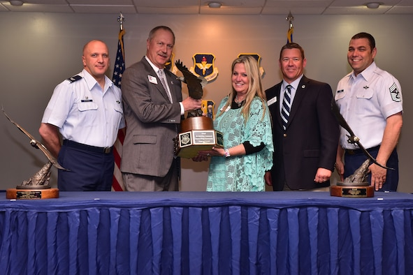 The community council awards the Abilene Trophy at Little Rock AFB for the most supportive local installation.