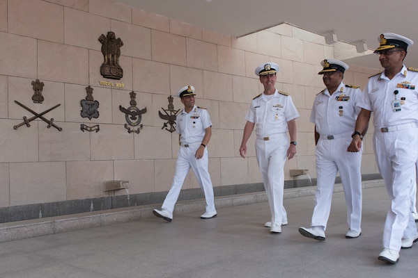 Chief of Naval Operations Visits India, Expands Partnership