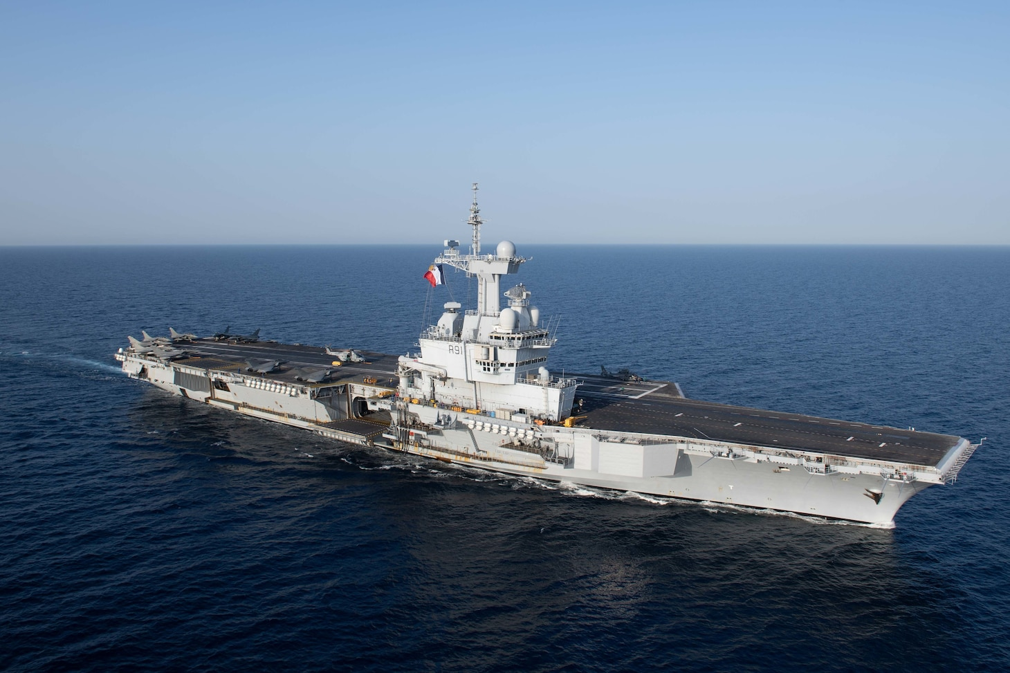 U.S. Navy file photo of the French Marine Nationale aircraft carrier FS Charles De Gaulle (R91).