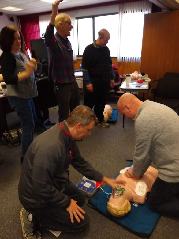 U.S. Army Corps of Engineers Buffalo District employees have been being trained for CPR, First Aid, and Naloxone (NARCAN), Buffalo, NY, February 22, 2019.