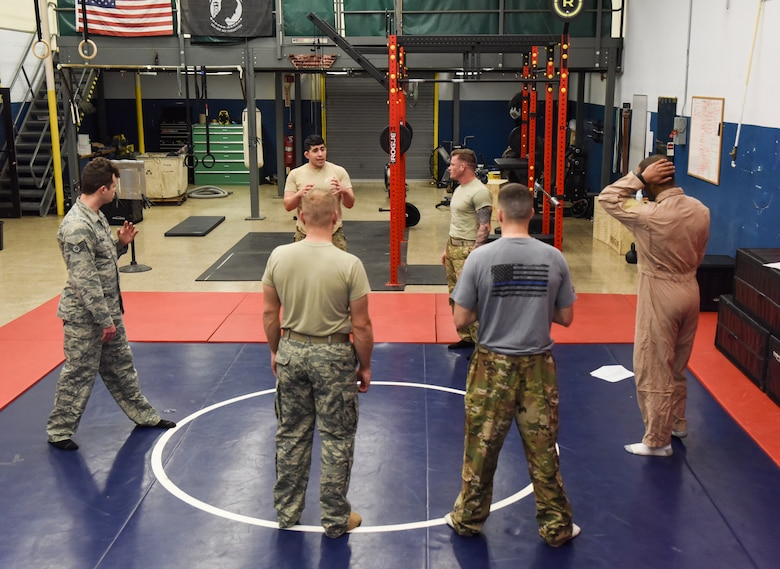 Air National Guard Airmen receive Air Force combatives instructor qualification