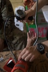 A U.S. Army nurse assigned to Joint Task Force – Bravo Medical Element, takes the blood pressure of a Honduran patient during a Medical Readiness Training Exercise (MEDRETE), May 10, 2019, in El Paraiso, Honduras. Members of JTF-B partnered with the Honduran Military and Ministry of Health to provide health care services for more than 1,300 Honduran citizens; reaching a third of the citizens in the towns of Argelia, Santa Maria and Las Dificultades in the El Paraiso Department. The goal of the mission was to provide the medical staff training in their areas of expertise as well as strengthen partnerships with the Honduran allies. (U.S. Air Force photo by Staff Sgt. Eric Summers Jr.)