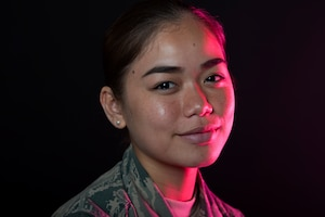 Airman Maria Benavente grew up in Guam and was the first in her family to join the military.
