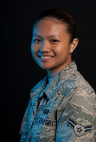 Airman 1st Class Elaiza Jane Andora grew up in the Philippines and moved to the United States with her family in 2015, joining the Air Force in 2017.