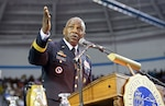 DLA Director Army Lt. Gen. Darrell K. Williams delivers the keynote addresses at the 149th Commencement Ceremony at his alma mater, Hampton University, Hampton, Virginia, May 12. Hampton University photo.