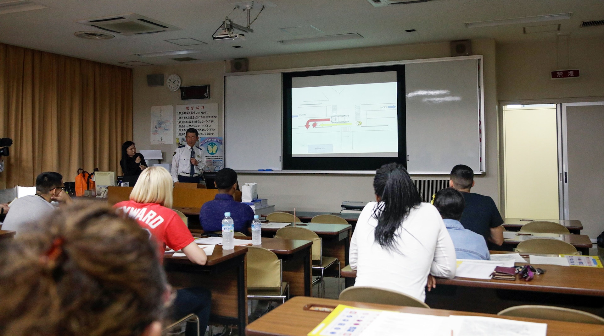 Residents from Marine Corps Air Station Iwakuni Attend Japanese Driving Course