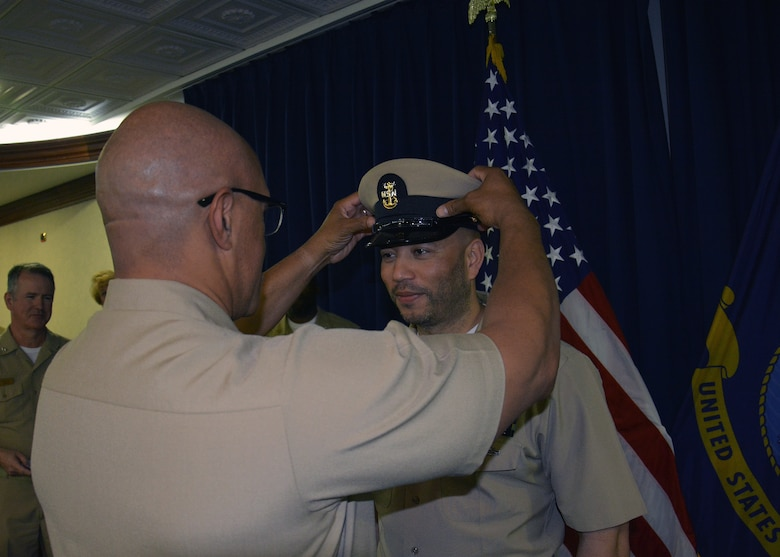 U.S. Naval Forces Europe-Africa/U.S. 6th Fleet (CNE-CNA/C6F), headquartered in Naples, Italy, pinned two new master chief petty officers, May 3, 2019.