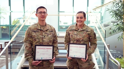 Soldiers honored in Cincinnati for saving man's life