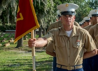 """A native of Satsuma, Alabama, graduated from Marine Corps recruit training here as the platoon honor graduate of Platoon 3037, Company L, 3rd Recruit Training Battalion, May 17, 2019. Kevin T. Barnett, earned this distinction over 13 weeks of training by outperforming other 49 recruits during a series of training events designed to test recruits' basic Marine Corps skills. These training events covered customs and courtesies, drill and ceremonies, marksmanship, physical fitness, military history, and a variety of other subjects. """"I enjoyed learning about true combat situations and learning how to work together as a team to accomplish the mission,"""" said Barnett. After enjoying the 10 days of leave allotted to graduates of recruit training, Barnett will continue to build foundational Marine Corps skills at the School of Infantry, Camp Geiger, North Carolina."""