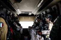 "Pilots and technicians attached to Combined Joint Task Force - Operation Inherent Resolve from Italian Air Task Group ""Griffon"" and the U.S. Task Force ""Gunfighter"" met to improve Coalition flight procedures. The main objective was to develop a plan for responding to in-flight emergencies and to discuss possible scenarios during which constant procedural and operational synergy is essential."