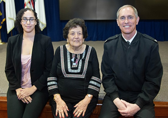 Holocaust survivor shares firsthand accounts during visit to NUWC Division Newport