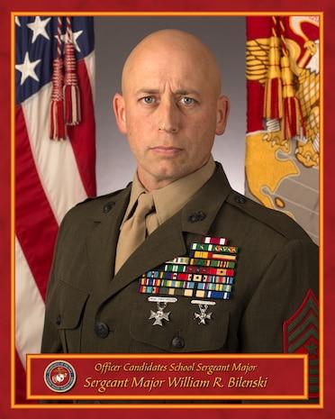 Sergeant Major William R. Bilenski, Sergeant Major, Officer Candidates School