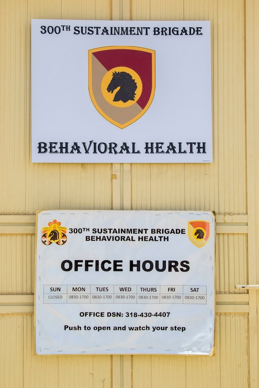 Service Members Offer Behavioral Health Services on Camp Arifjan