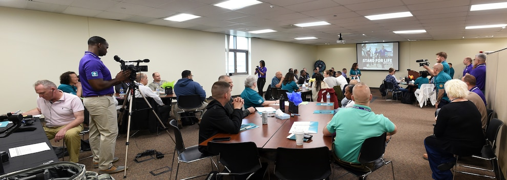 U.S. Army Reserve Soldiers and Civilians from across the country participate in the 85th U.S. Army Reserve Support Command's 'Stand For Life' suicide prevention training, May 6-10, 2019, at the 85th USARSC headquarters.