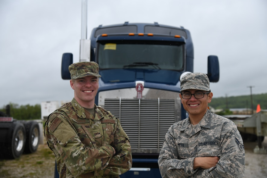U.S. Air Force Airmen posing for photo