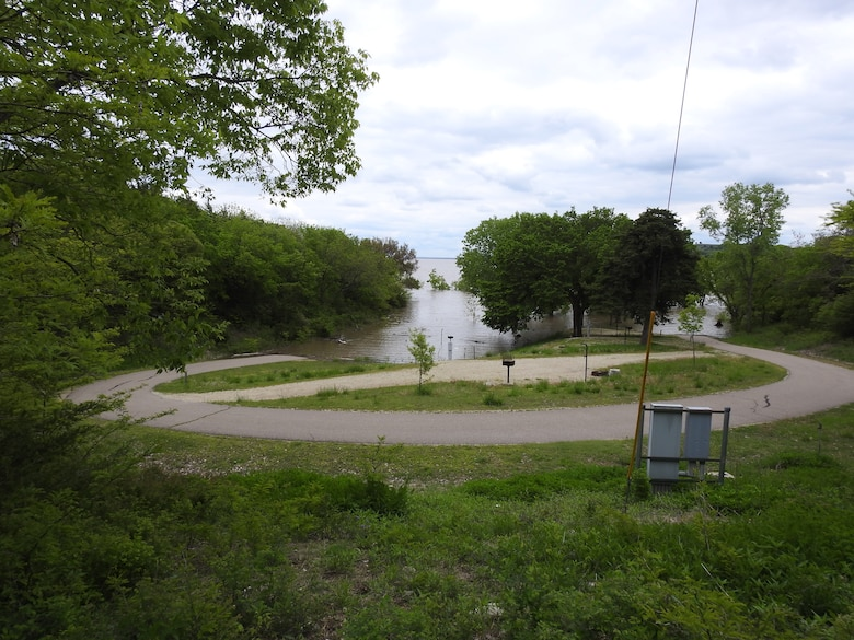 Flooded Point-Loop campsites at Tuttle Creek Cove Campground. Contributed photo taken May 10, 2019.