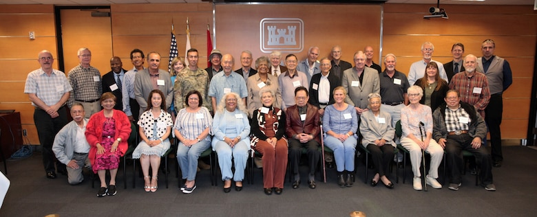 """Nearly three dozen former employees attend the U.S. Army Corps of Engineers Los Angeles District""""s annual Retiree Recognition Day May 8 at the District's headquarters in Los Angeles. The day's activities included a breakfast social, commander's update and catered lunch."""